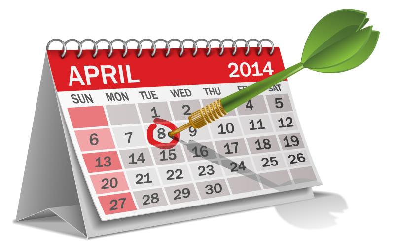 calendar-2014-april-cartoon-vector