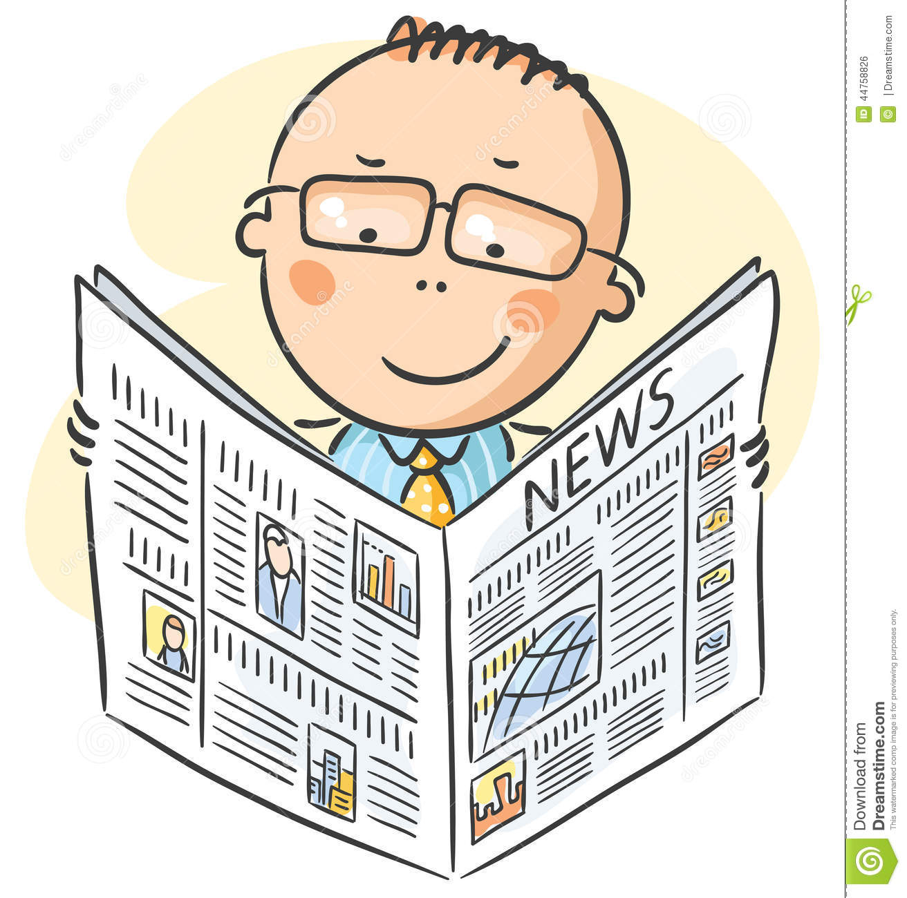 man-glasses-reading-newspaper-cartoon-44758826